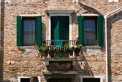 Окно в Венеции Стоковая Фотография RF