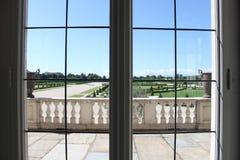 Окно в галерее Дианы - Reggia di Venaria Reale Стоковые Фото