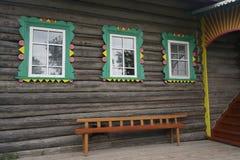 Окно в деревянном доме Стоковое фото RF