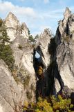 Окно горы в горах Sulovske Skaly скалистых в Словакии Стоковое Изображение