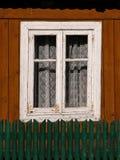 окно деревенского дома старое Стоковое Изображение RF