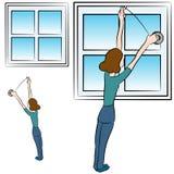 Окно ленты пены Стоковые Изображения RF