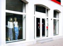 окно закрытого магазина Стоковое фото RF