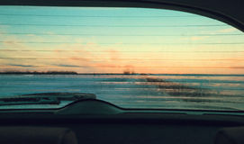 окно замерли автомобилем, котор Стоковое Изображение RF