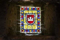 Окно замка стоковое изображение