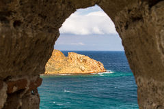 Окно замка Tenedos стоковые фото