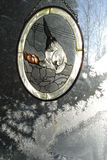 окно заморозка украшения стоковые изображения rf