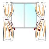 окно занавесов Стоковые Изображения RF