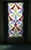 4 окно запятнанное стеклами Мечеть собора Москвы (внутренняя), Россия Стоковые Изображения RF