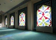 4 окно запятнанное стеклами Мечеть собора Москвы (внутренняя), Россия Стоковое Изображение