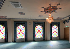 4 окно запятнанное стеклами Мечеть собора Москвы (внутренняя), Россия Стоковые Изображения