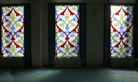 4 окно запятнанное стеклами Мечеть собора Москвы (внутренняя), Россия Стоковые Фото
