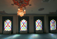 4 окно запятнанное стеклами Мечеть собора Москвы (внутренняя), Россия Стоковая Фотография RF