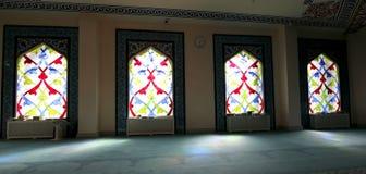 4 окно запятнанное стеклами Мечеть собора Москвы (внутренняя), Россия Стоковые Фотографии RF