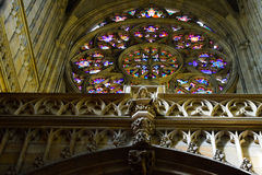 4 окно запятнанное стеклами Стоковая Фотография