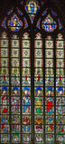 4 окно запятнанное стеклами Стоковое Изображение