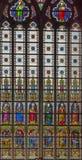 4 окно запятнанное стеклами Стоковые Фото