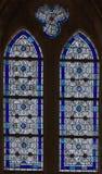 4 окно запятнанное стеклами Стоковое Фото