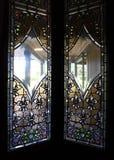 4 окно запятнанное стеклами Стоковое фото RF