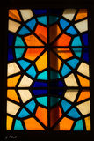 окно запятнанное стеклом Стоковые Фотографии RF