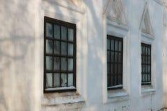 Окно зимы старое ретро внешнее Стоковая Фотография RF