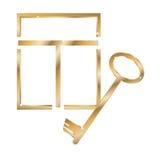 окно золота ключевое Иллюстрация штока