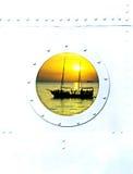 Окно иллюминатора корабля Стоковое Фото