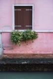 Окно и венецианский канал Стоковое Изображение RF