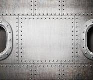 Окно или подводная лодка корабля на борту панка пара стоковые фотографии rf