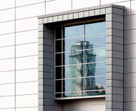Окно и отражение Стоковые Фото