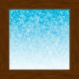 Окно и снежок Стоковые Фото