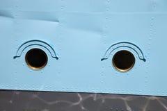 Окно иллюминатора корабля Стоковая Фотография
