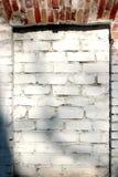 окно как обрамленная предпосылка текстуры кирпичной стены Стоковая Фотография