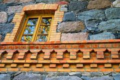 окно каменной стены Стоковые Фото