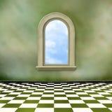 окно комнаты grunge нутряное старое иллюстрация штока