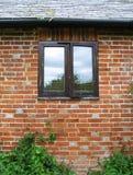 окно коттеджа старое Стоковые Изображения RF