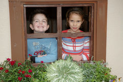 окно коттеджа Стоковая Фотография RF