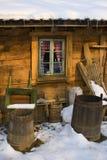 окно коттеджа Стоковые Изображения