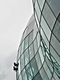 окно крайности уборщиков Стоковые Фотографии RF