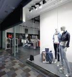 Окно красивого европейского магазина Стоковые Фото