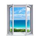 Окно к морю стоковые изображения