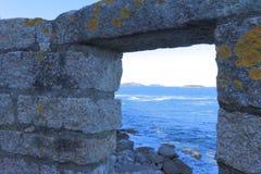 Окно к морю стоковое фото rf