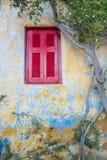 Окно на старом доме Стоковая Фотография