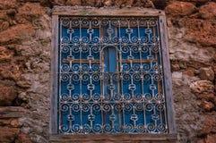 Окно на текстурах стены Стоковые Изображения RF