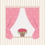 Окно дома с цветками Стоковое Фото