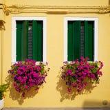 Окно от Burano Стоковые Изображения RF