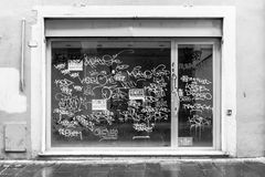 окно помадок магазина коробок медведя Стоковые Фото