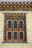 Окно построенное в бутанском стиле Положение Тхимпху Бутана стоковые фотографии rf