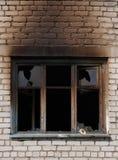 Окно после огня стоковое фото rf
