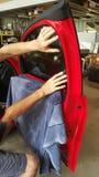 Окно подкрашивая автомобиль Стоковое фото RF